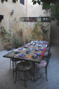 Riad Norma Breakfast Table