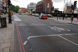 CS2 Aldgate corner where a talented young woman was killed