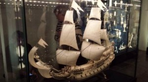 Ivory carved ship