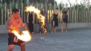 Flaming baton