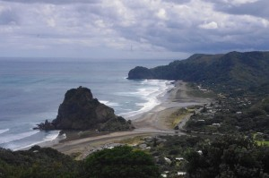 First sight of Piha