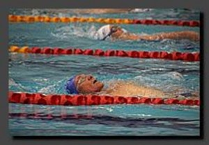 Looking relaxed in the 200m Backstroke Photo by Andrea Robinson