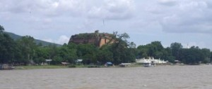 Bagun Pagoda dominates as we approach
