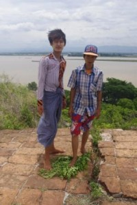 My young guides -top of Mingun Pagoda