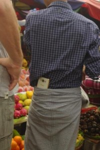 How to carry your mobile. Wouldn't last 5 minutes in a London market