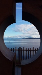 Lake Taupo sculpture view