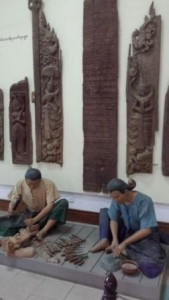 Representation of wood carvers