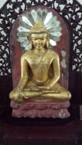 11th C Buddha with added mirrors