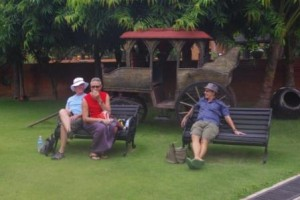 Mark & Garry with Richard C @ Amazing Bagan Resort