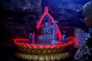 Buddha bling in cave