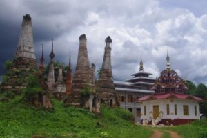 New Monastery -old Stupas