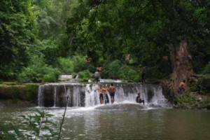 Falls near Pyn Oo Lwin Men bathing