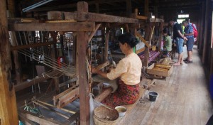 Hand looms could be from pre-industrial Revolution times