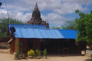 Minnathu Village - blue corrugated iron roof