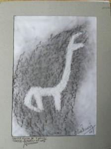 Llama rubbing
