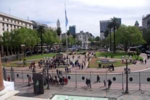 Mayo Square from Cassa Rosada Loggia