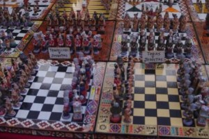 Chess sets Christians vs the Indians