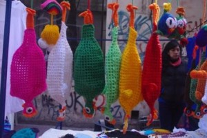 Chicken Crochet Plastic bag holders