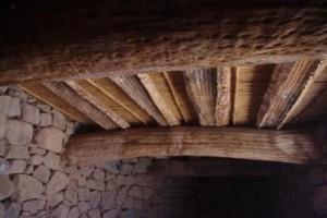 Pucará de Tilcara rafters from Cacti wood